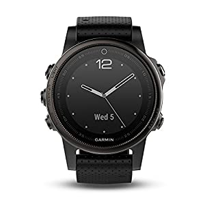 Garmin Fenix 5S Bluetooth Black Sport Watch – Sport reloj (Black, Polymer, Stainless Steel, Water resistant, silicona, 10 ATM)