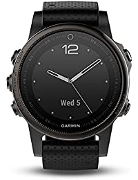 Garmin Fenix 5S Bluetooth Black Sport Watch – Sport reloj (Black, Polymer, Stainless