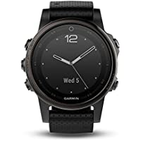 Garmin Fēnix 5S - Montre GPS Multisports Outdoor - Acier inoxydable - Bracelet Silicone Noir