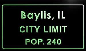 t85713-g Baylis village, IL City Limit Pop 240 Indoor Neon sign