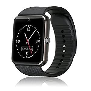 ApeCases® Bluetooth Smart Watch K2 Phone With Camera and Sim Card Support With Apps like Facebook and WhatsApp Touch Screen Multilanguage Android/IOS Mobile Phone Wrist Watch Phone with activity trackers and fitness band features