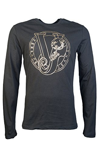 versace-jeans-herren-t-shirt-schwarz-nero-e899-m