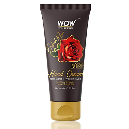WOW Skin Science English Rose Gentle Hand Cream With Rose Water + Hyaluronic Acid – No Parabens, Silicones, Mineral Oil, Color & Pg, 40 ml