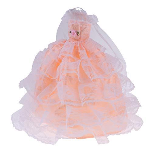 (FLAMEER Hochzeitskleid mit Schleier für 29 cm Puppen)