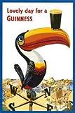 Toucan Lovely Day for a Guinness Vintage publicité bière alcool Art Poster Print 11 à 14