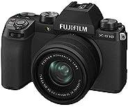 Fujifilm X-S10 Mirrorless Digital Camera XC15-45mm Lens Kit - Black