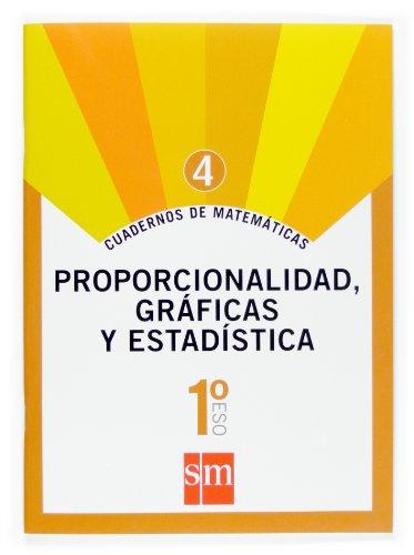 Cuaderno 4 de matemáticas. 1 ESO. Proporcionalidad, gráficas y estadística - 9788467515831