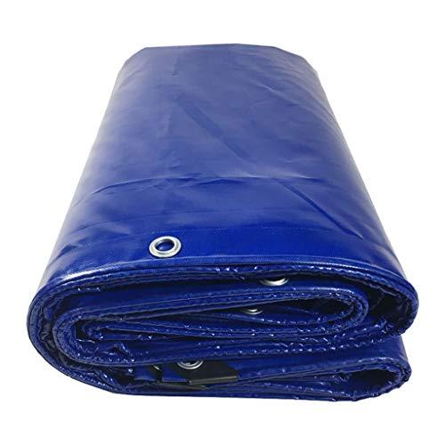 JHNEA Heavy Duty Bâche étanche, Multi Purpose résistant aux UV/Usure Proof Poly Tarp, PVC Durable Couteau Chiffon avec œillets, Bleu, 4x4m