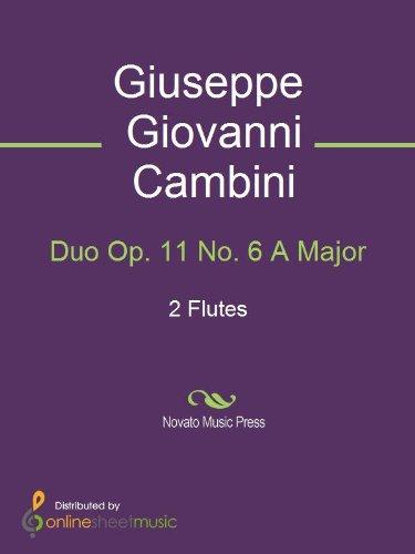 Duo Op. 11 No. 6 A Major - Score (English Edition)