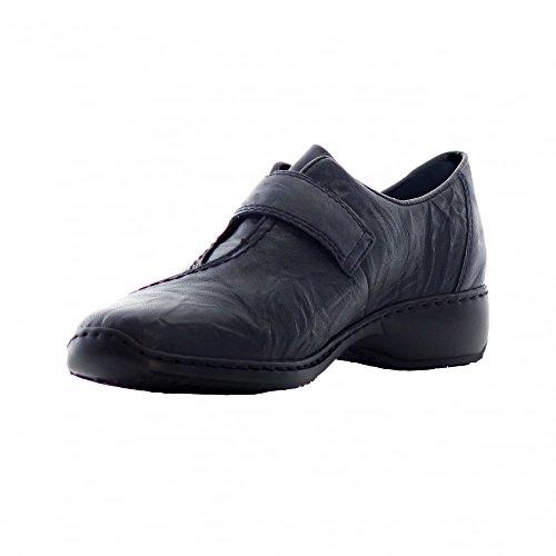 Rieker L3870-14 - intelligente completo-donna scarpa in Blu Royal Nero (Blu)