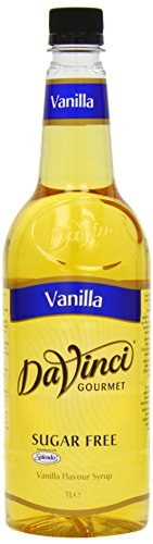 DaVinci Gourmet Sugar Free Vanilla Syrup Pet, 1er Pack (1 x 1 l) (Vanille-kaffee-sirup)