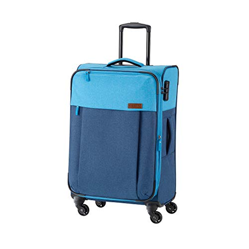 Travelite Leichtes lässiges  Surferlook Trolley Koffer 67 cm, 59 L, Marine/Blau