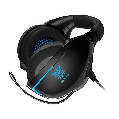 ONIKUMA Auriculares Gaming con Microfono para PS4 Xbox One PC, 3D Sonido...