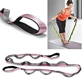 ShopSquare64 KALOAD Nylon 2m 2.45m Yoga Fitness-Widerstandsbänder Workout-Bänder Stretch-Bänder Yoga Straps