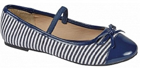 Koo-T ,  Mädchen Ballerinas Blue/White Striped