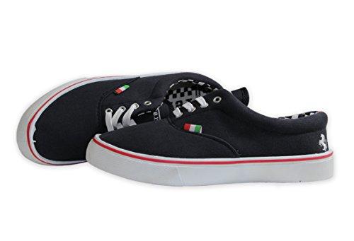 FERRARI Kinder Schuhe Halbschuhe Sneakers, schwarz, 38