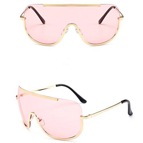 Preisvergleich Produktbild Damen Straßenschlag Sonnenbrille Rosennie Frauen Vintage Retro Brille Unisex Mode Aviator Spiegel Objektiv Sonnenbrille Ultraleicht Katzenohren Zustrom von Menschen Metall Sunglasses (Pink)