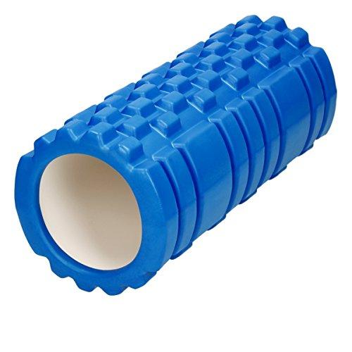 ECD Germany Faszienrolle von Selbstmassage, für Pilates, Yoga oder Fitness Übungen, Maße 33 x 14 x 14 cm, Benutzergewicht ca. 100 kg, aus Ethylen-Vinylacetat + Polyvinylchlorid, Blau, Massagerolle, Schaumstoffrolle, Fitnessrolle