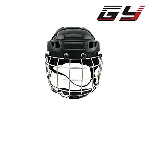 2016 plus récent casque de hockey sur glace avec des équipements de sport de masque en acier pour tête standard rencontrent CE