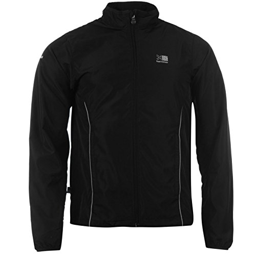 Karrimor Mens Running Jacket Jogging Long Sleeve Zip Fastening Coat Top Black L