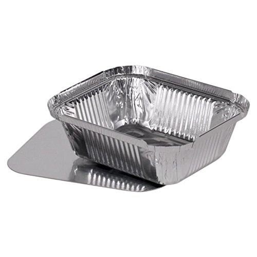 100 vaschette in alluminio + coperchio