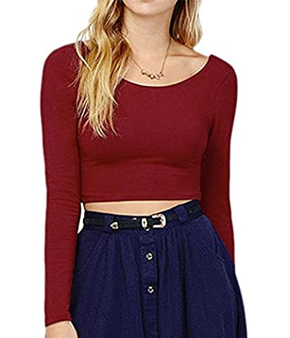 Klorim - T-shirt - Femme Rouge Bordeaux petit