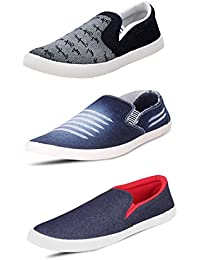 SCATCHITE Pack of 3 Footwear (Loafers & Moccasins & Sneakers & Casual Shoes)