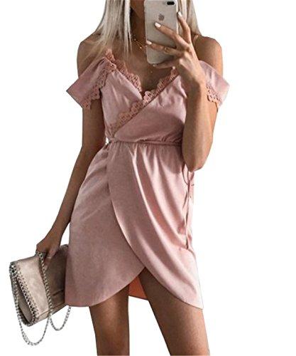 DaBag Neuer Stil Sommer Damen Reizvolle Kleid Normallacks Spitze Zum Schnüren Kleider mit Schlitz...