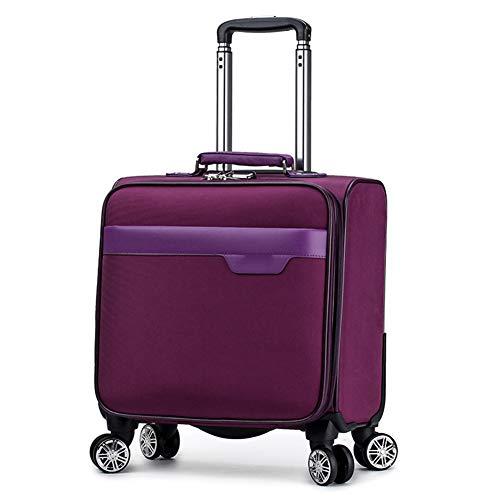 QIUDAN 18-Zoll-Trolley, leichte rollbare Laptop-Tasche mit Passwortsperre - Geeignet für 15-Zoll-Laptops Business Travel Office Gepäck Koffer-3