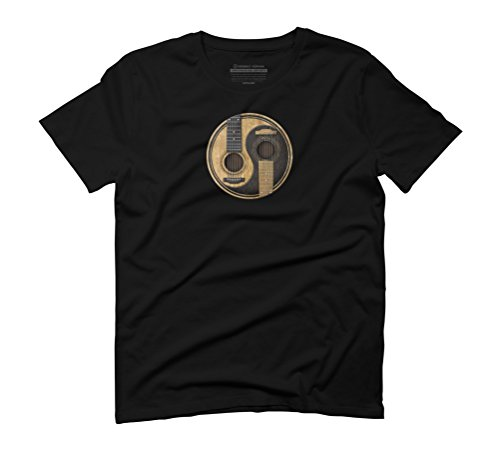 Old and Worn Acoustic Guitars Yin Yang Men's Graphic T-Shirt - Design By Humans Black