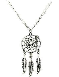 RazMaz™ Pendant Dream Catcher Retro Necklace Women Bohemia Tassels Feather Female Charm Statement Long Chain Jewelry Accessories for Women