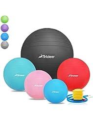 45 cm à 85 cm Ballon Suisse de gym avec Pompe, Trideer® 500KG Anti-Eclatement / différentes couleurs Ballon de gymnastique