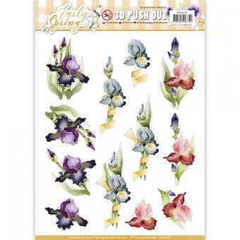 3D-Stanzbogen - Precious Marieke - Early Spring - Iris