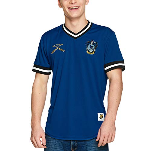 Harry Potter Herren T-Shirt Ravenclaw Quidditch Team Trikot blau - XS