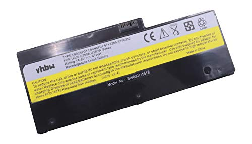 vhbw Li-Ion Akku 2700mAh (14.8V) schwarz für Laptop Notebook Lenovo IdeaPad U350, U350 20028, U350 2963, U350W -