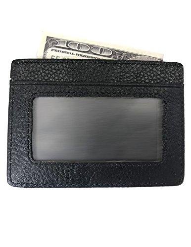 Kronen Soehne Echtes Leder Magnet Geldscheinklammer ID Fenster Kreditkartenetui Halter Slim Wallet (Wallet Id-fenster Mens)