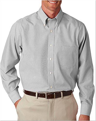 Van Heusen pour homme v0420plumes à manches longues à rayures Gris - Grey Stripe