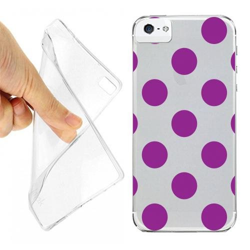 CUSTODIA COVER CASE POIS VIOLA PER IPHONE 5 OPACO (Iphone Case 5 Viola)