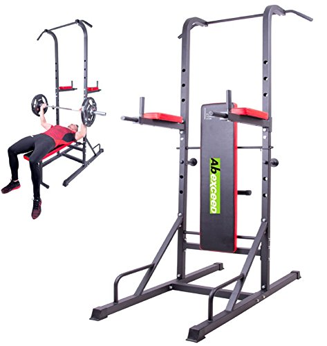 abexceed® Home Gym Fitness Power Tower Knie Lift Fitness Training Workout Pull Up Bench Workout Training Bench komplett Gym Trainer Bench All in One Supreme Qualität (Home Gym Equipment Bench)