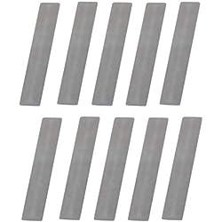 Lot de 10 plaques de soupape pour compresseur à piston 11 x 57 mm