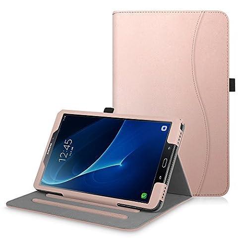 Coque Samsung Galaxy Tab A 10.1 - Fintie [Protection d'angle] Coque de Protection Multi Angles Folio Stand Housse étui Case Cover avec Pocket et Fonction Sommeil/Réveil Automatique pour Tablette Samsung Galaxy Tab A 10,1