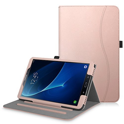 Fintie Hülle für Samsung Galaxy Tab A 10,1 Zoll T580N / T585N 2016 Tablet - Multi-Winkel Betrachtung Schutzhülle Cover Case mit Dokumentschlitze, Standfunktion, Auto Wake/Sleep Funktion, Roségold