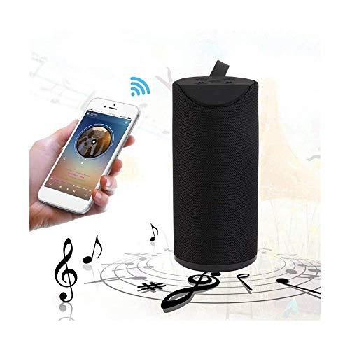 T3S® TG113 Bass Splashproof/Waterproof Wireless Bluetooth Speaker Playing with Mobile/Tablet/Laptop/AUX/Memory Card/Pen Drive (Black)