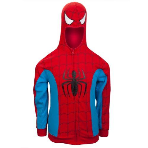 Spider-Man–Kostüm Hoodie Gr. X-Large, rot (Kleidung Punk-rock Kinder)