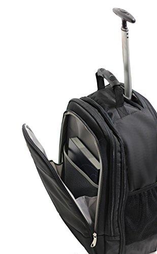 41ly4IG ZWL - Bolsa con Ruedas para Portatil Marqua Alistair Airo - 17 Pulgadas - Ultra Ligero - Color Negro