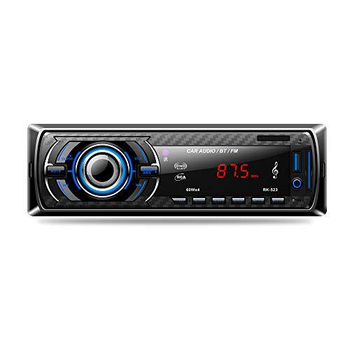 lslya Auto Stereo Audio Empfänger FM Radio MP3-Player mit Bluetooth USB/SD/AUX/MMC Single DIN-INDASH mit Fernbedienung