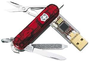 Victorinox Taschenmesser Swiss Flash LED weiss 8 GB, 14,5 x 116 x 2,2 cm