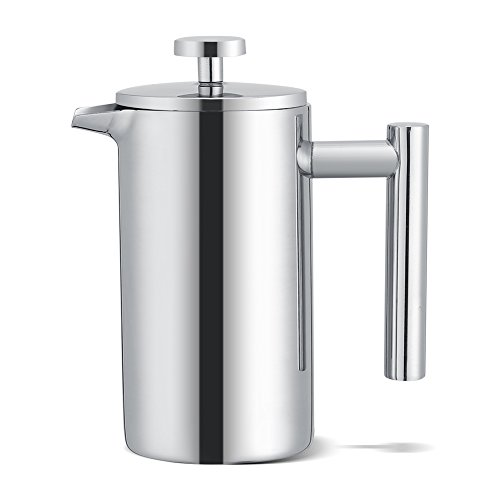 French Press 350 ml Edelstahl Kaffee French Press Maker Kaffeebereiter doppelwandig Tee Kaffee Filter Topf Drücken Plunger -