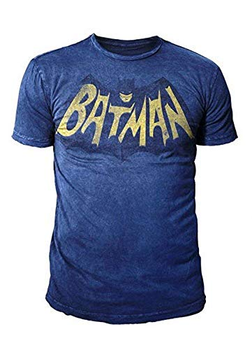 DC Comics - Batman Herren T-Shirt - 66 Logo (Blau) (S-XL) (L) (Riddler-jacke)