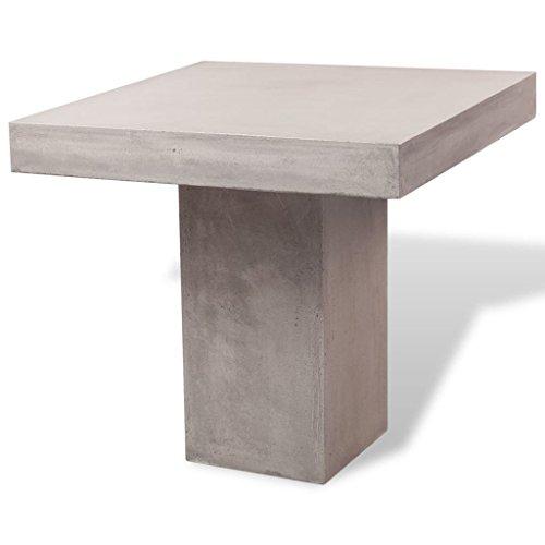 vidaXL Esszimmertisch Küchentisch Gartenmöbel Gartentisch Beton Tisch Quadrat